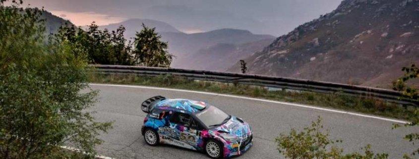 Simone Miele con la Citroen DS3 WRC