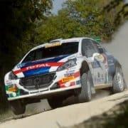 Paolo Andreucci e Anna Andreussi su Peugeot 208 T16 R5