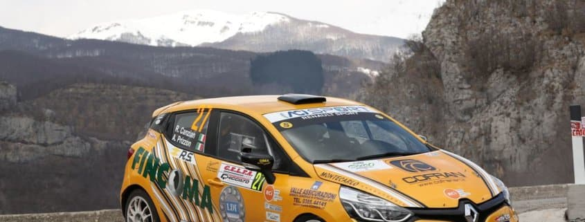 Riccardo Canzian e Andrea Prizzon sulla Renault Clio R3T della Winner Rally Team