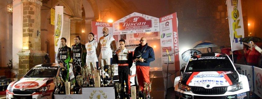 Il podio del Rally Tuscan Rewind