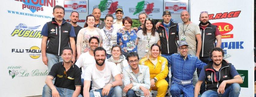 Festeggiano gli organizzatori della Grassano Rally Team