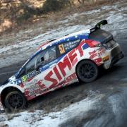 Claudio Marenco e Luca Pieri in azione al Rally MonteCarlo
