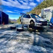 Daniele Michi e Manuel Villa stanno testando al Rally Monte-Carlo