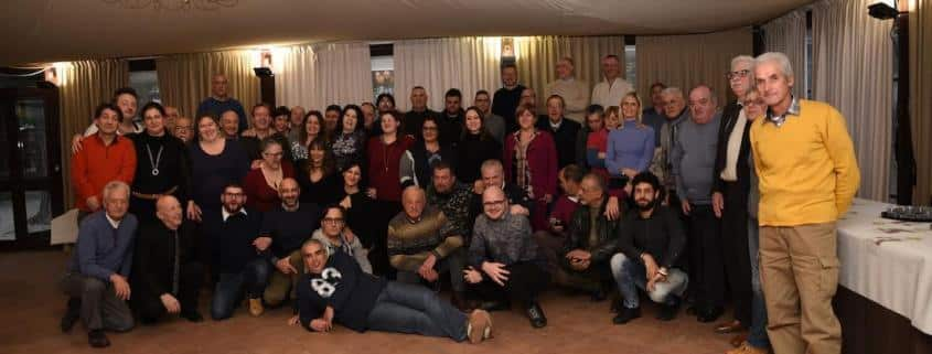 Gli Ufficiali di gara di Lucca alla cena organizzata