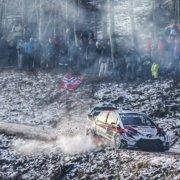 Ott Tanak corre velocissimo verso il podio del Rally MonteCarlo