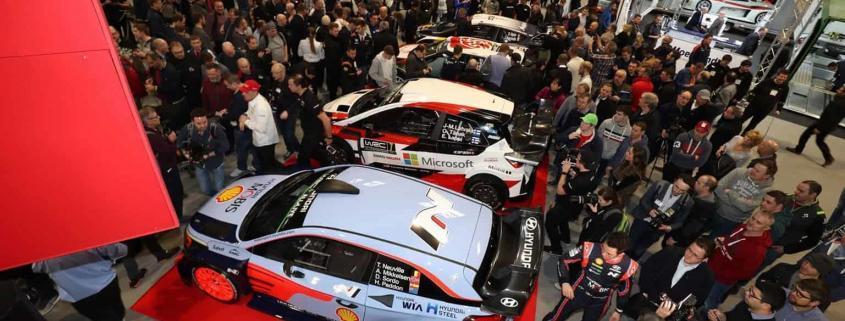Un momento della presentazione del WRC 2018