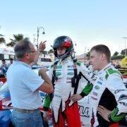 In primo piano Mikael Korhonen al 51° Rallye Elba nella foto di Yuri Vivaldi
