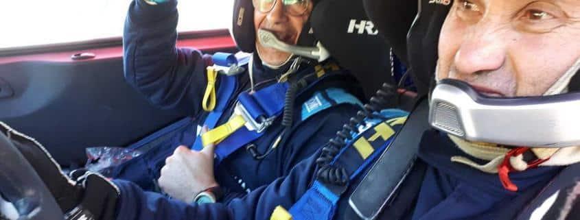 La soddisfazione di Marco Blanc e Luca Lattanzi per aver portato a termine il Rally MonteCarlo