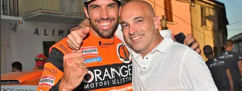 Simone Campedelli e Armando Donazzan, presidente di Orange1 Racing