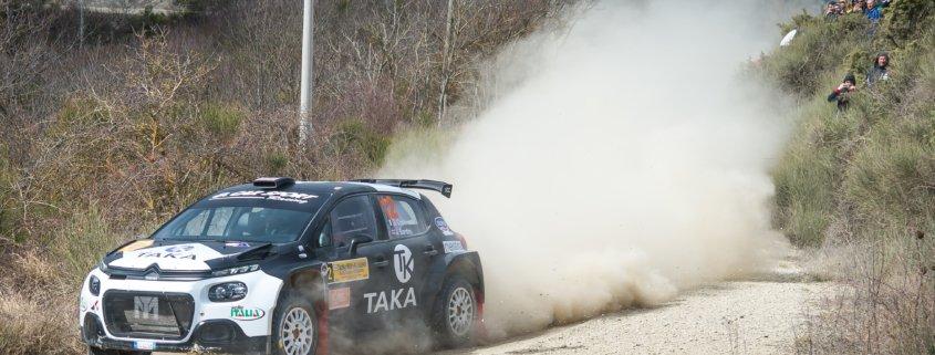 Giacomo Costenato e Justin bardini sulla C3 R5 al Rally Valtiberina 2019