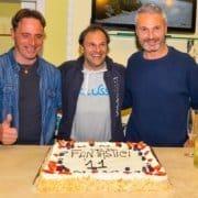 Paolo Andreucci alla cena con i suoi amici