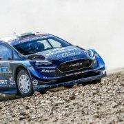 Elfyn Evans con la Ford Fiesta WRc al rally Mexico 2019