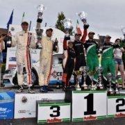 Il podio dell'edizione 2018 del Moscato Rally
