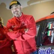 Luca Rossetti ed Eleonora Mori con la Citroen C3 R5