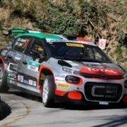 Luca Rossetti ed Eleonora Mori con la Citroen C3 R5 al Rally del Ciocco