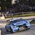 Rudy Michelini con la Skoda Fabia R5 al Rally del Ciocco 2019