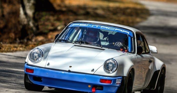 Lucio Da Zanche sulla Porsche 911 Gruppo B