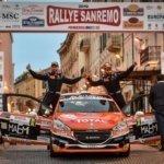 Davide Nicelli con la Peugeot 208 R2