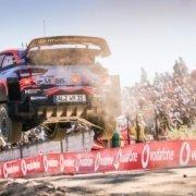 Dani Sordo con la Hyundai i20 WRC Plus al Rally del Portogallo 2019