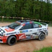 Mattia Codato con la Mitsubishi Lancer Evo X