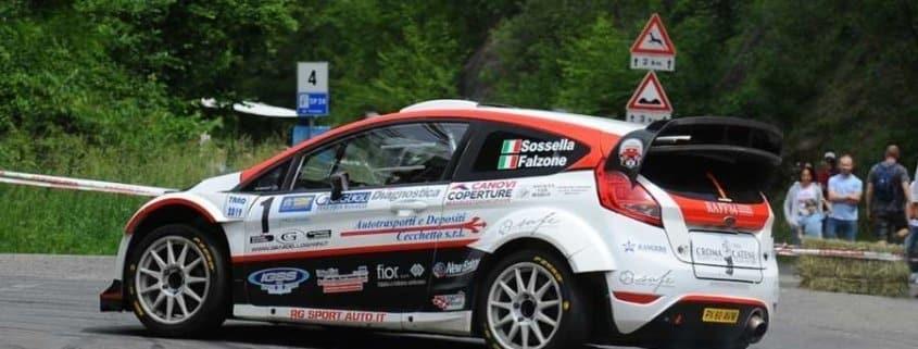 Manuel Sossella con la Ford Fiesta WRC
