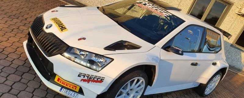 La Skoda Fabia R5 della Erreffe Rally team