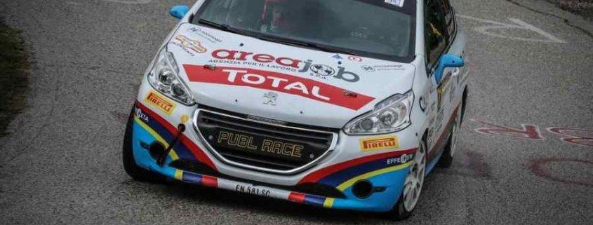 Alessandro Zorra è leader della 208 Rally Cup Pro