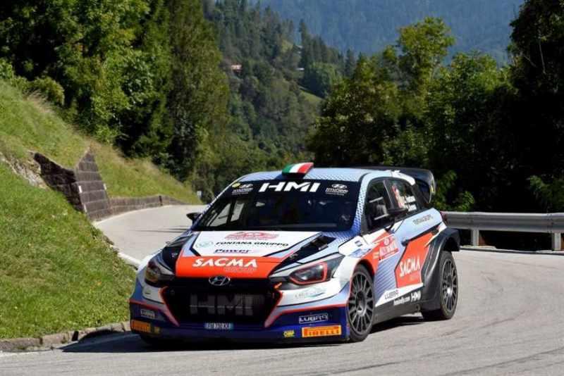 Corrado Fontana sulla PS Manghen del Rally San Martino