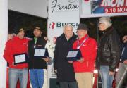 Da sinistra Michele Tedaldi, Andrea Galeazzi, il sindaco di Tizzano Bodria e Loris Mercadanti, foto Diessephoto