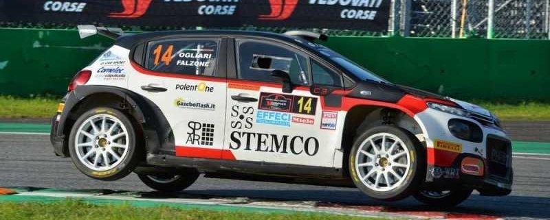 Giacomo Ogliari con la Citroen C3 R5