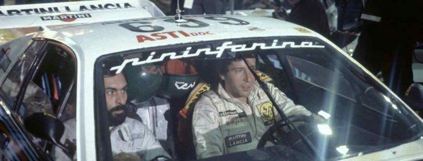 Attilio Bettega con Arnaldo Bernacchini al Giro Automobilistico d'Italia 1980