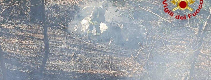 Incendio Rally dei Laghi