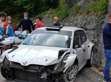 Incidente al test per Alberto Battistolli e Fabrizia Pons