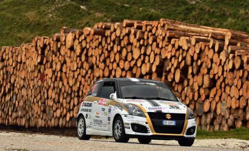 Ivan Cominelli al rally di San Martino