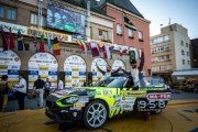 L'Abarth 124 rally con l'italiano Andrea Nucita