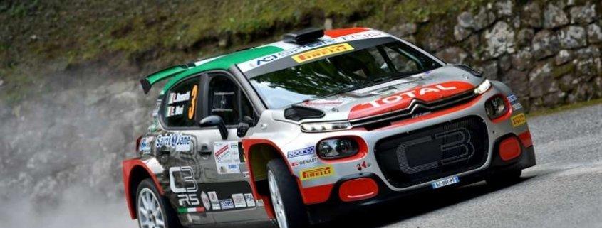 Luca Rossetti fa bene al Rally del Friuli