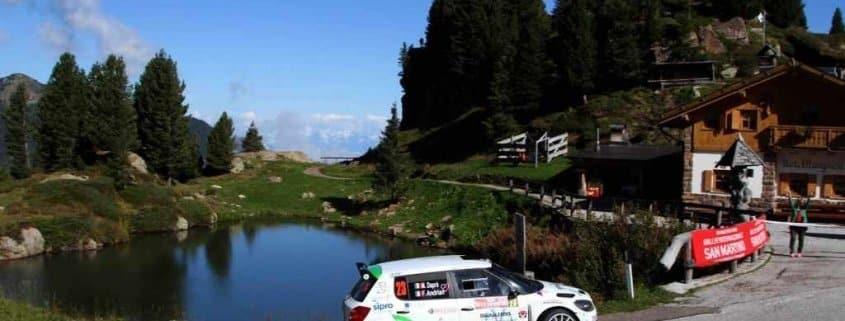 Matteo Daprà al Rally San Martino di Castrozza