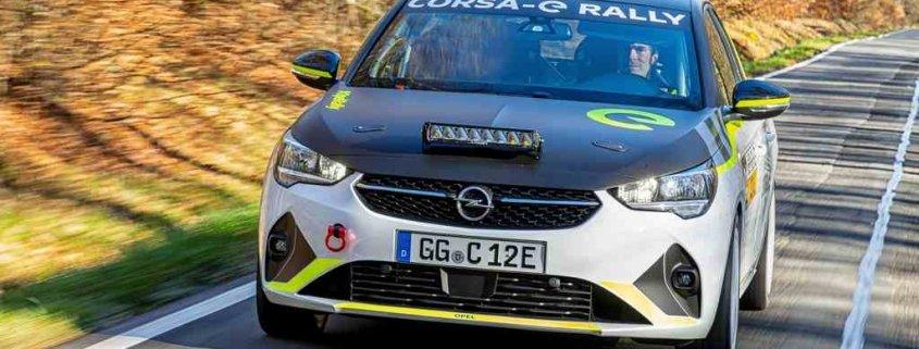 Opel Corsa e-Rally: pronta la prima auto da rally elettrica