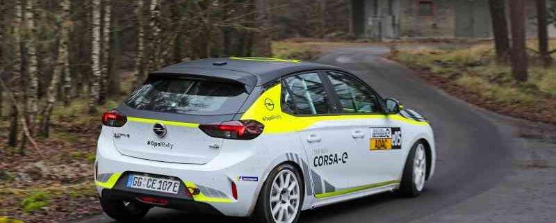 Parte l'ADAC Opel e-Rally Cup con la Corsa-e Rally