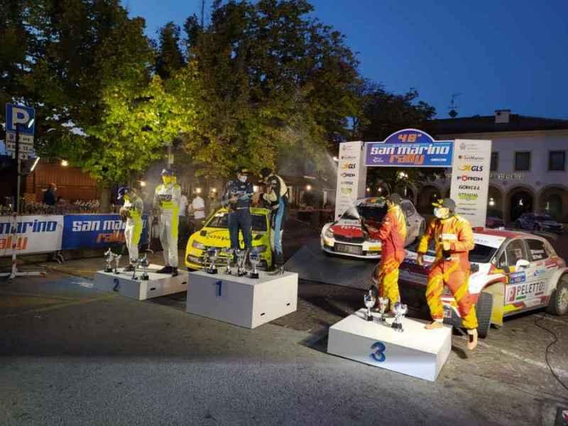 Il podio del Rally di San Marino 2020