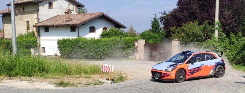 Luca Rossetti in test con la Hyundai sullo shakedown di Alba