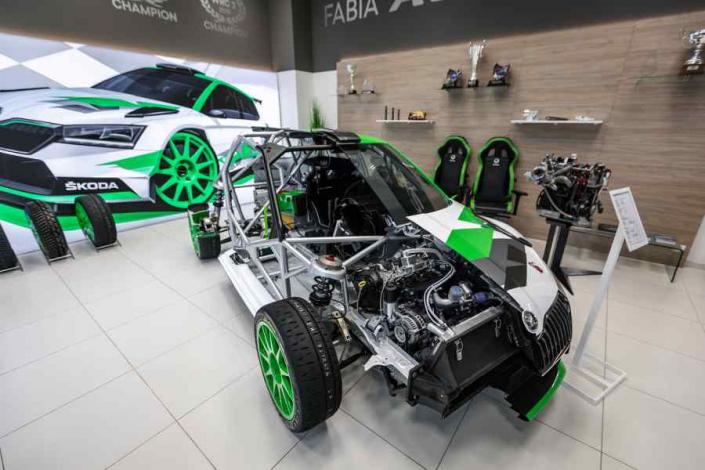 Sezione trasversale Skoda Fabia Rally2 Evo