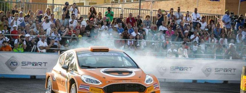 Simone Campedelli al Rally di Roma Capitale
