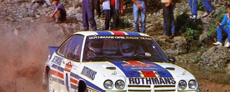 Henri Toivonen e Fred Gallagher su Opel Manta 400 al Sanremo del 1983