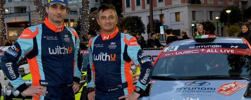 Umberto Scandola e Guido D'Amore del Hyundai Rally Team Italia
