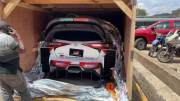 Manichino della Yaris WRC in Kenya