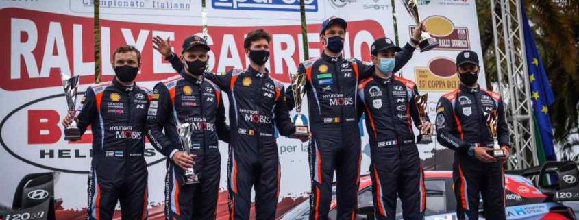 Il podio del Sanremo WRC
