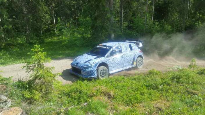 Test in Finlandia per la Hyundai Rally1 2022