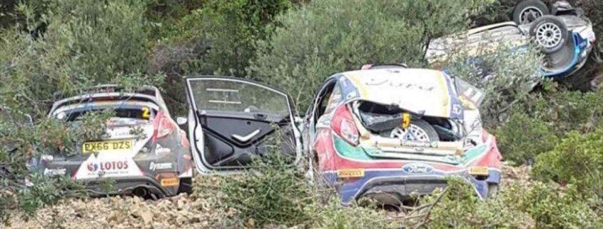 La storia dell'ERC e il tris di incidenti al Rally di Cipro 2017