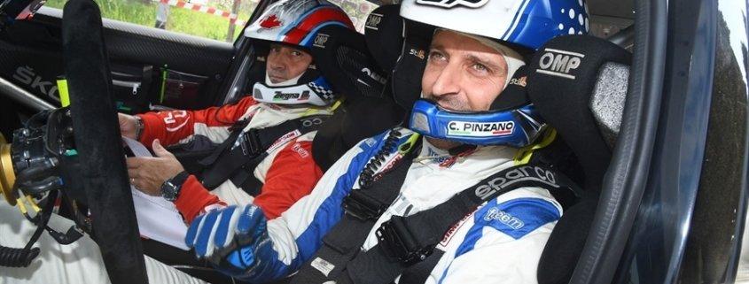 Corrado Pinzano con la Skoda Fabia R5